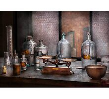 Chemist - The art of measurement  Photographic Print