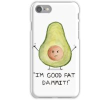 Little fatty avocado. Watercolor iPhone Case/Skin