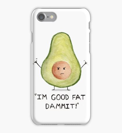 Little fatty avocado. Watercolor iPhone Case/Skin