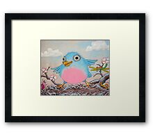 Bluebird and friends 2 - Happy themed critter friends grouping intended for a childs room Framed Print