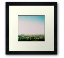 Griffith Park Observatory and Downtown L.A. - Cross processed Framed Print