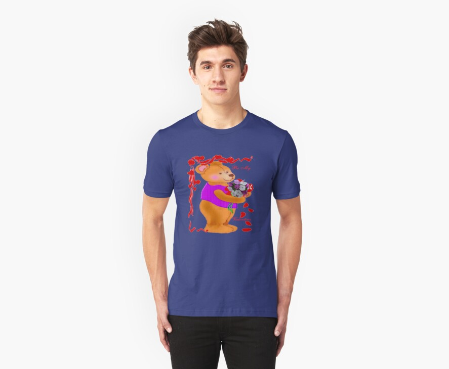 Bear with a Bouquet tee by MaeBelle
