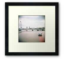 Thames River - London Framed Print