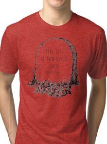 modern baseball tombstone Tri-blend T-Shirt