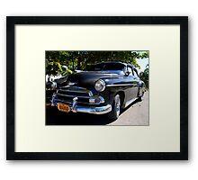 Black Cuban Cruiser Framed Print