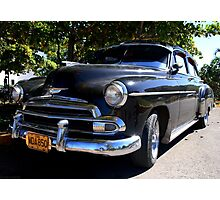 Black Cuban Cruiser Photographic Print