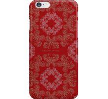 Gilded Butterflies Dark Red iPhone Case/Skin