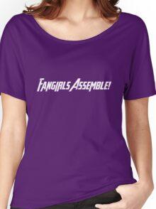 Fangirls Assemble! (White Text) Women's Relaxed Fit T-Shirt