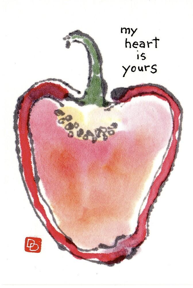 Sweet Bell Pepper Heart by dosankodebbie