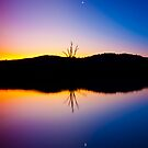 Lake Hume colourful evening by John Vandeven
