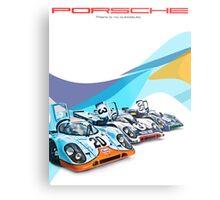 Porsche Gulf Martini 917K Advertisement Poster Metal Print