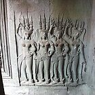 Apsaras at Ankor Wat, Cambodia by Daphne Gonzalvez