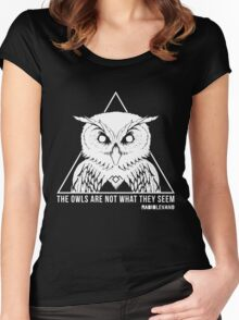 RADIOLEVANO - Twin Peaks - Owl Women's Fitted Scoop T-Shirt