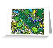 Tulane Collage Greeting Card