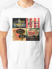 Vintage Matchbook Cover Art Collection #1 Unisex T-Shirt