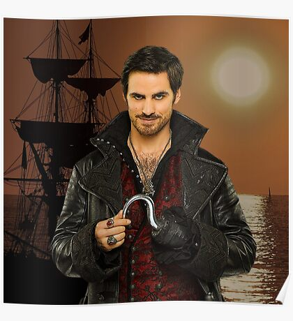 "Captain Hook Comic Poster ""Sunset"" Logoless Design Poster"