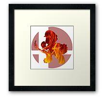 Sm4sh - Mario Framed Print