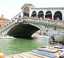 Rialto Bridge by Karen  Rubeiz