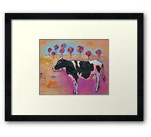 Until the cows come home. Framed Print