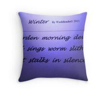 """Winter HAIKU"" Throw Pillow"