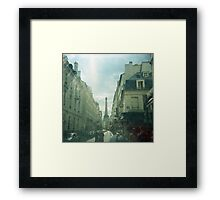 The Eiffel Tower in the Distance Framed Print
