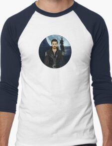 """Captain Hook Comic Poster """"Moonlight"""" Logoless Design Men's Baseball ¾ T-Shirt"""
