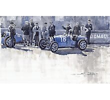 Bugatti 35C Monaco GP 1930 Louis Chiron  Photographic Print