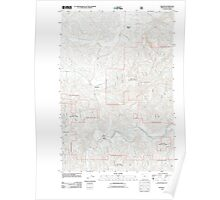 USGS Topo Map Oregon Beaver 20110810 TM Poster