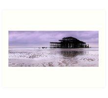 West Pier Brighton - Panoramic Art Print