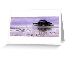 West Pier Brighton - Panoramic Greeting Card