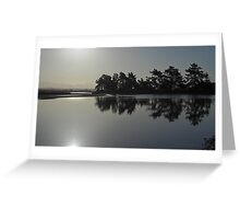 Shining silhouette Greeting Card