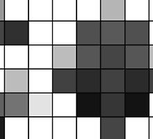 Modern Black and White Geometric Squares by Blkstrawberry