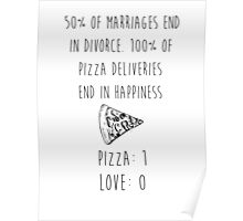 Pizza > Love Poster