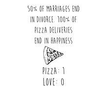 Pizza > Love Photographic Print
