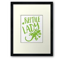 Reptile Lady Framed Print