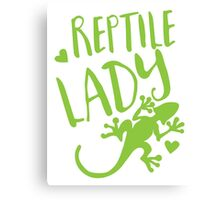 Reptile Lady Canvas Print