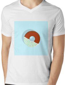 Half-Dipped Apple Spice Donut Mens V-Neck T-Shirt