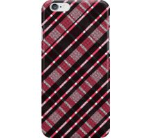 Black and Pink Mesh Plaid Pattern iPhone Case/Skin