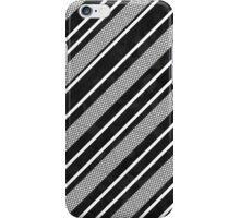 Black and White Mesh Stripes Pattern iPhone Case/Skin