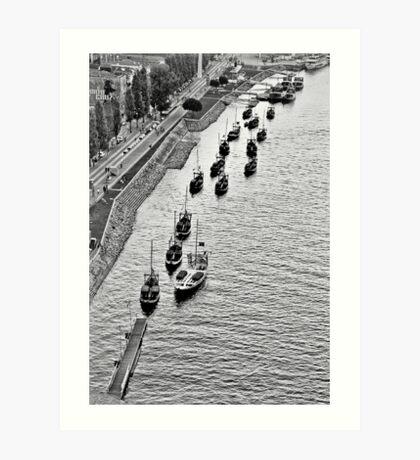 Porto's boats Art Print