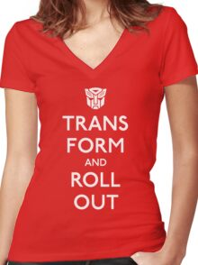 Transform and Roll Out Women's Fitted V-Neck T-Shirt