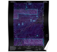 USGS Topo Map Oregon Dee 279593 1994 24000 Inverted Poster