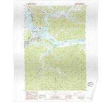 USGS Topo Map Oregon Reedsport 281252 1985 24000 Poster