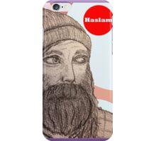 Chris Haslam Drawing Portrait  iPhone Case/Skin