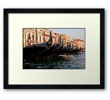 Gondola's point of view Framed Print