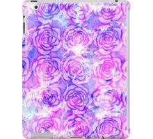 Pink, Purple, and Blue Floral Watercolor Pattern iPad Case/Skin
