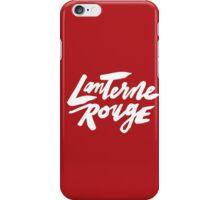 Lanterne Rouge : White Script iPhone Case/Skin