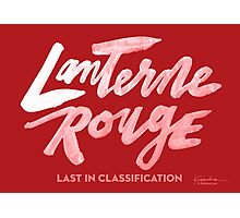 Lanterne Rouge : White Script Photographic Print