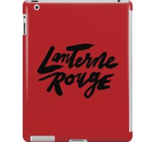 Lanterne Rouge : Black Script iPad Case/Skin