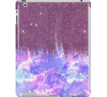 Pink, Blue, and Purple Watercolor and Faux Glitter iPad Case/Skin